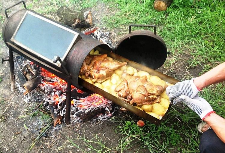 мангал-печь