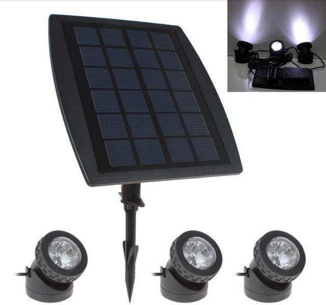 садовые прожектора на солнечной батарее