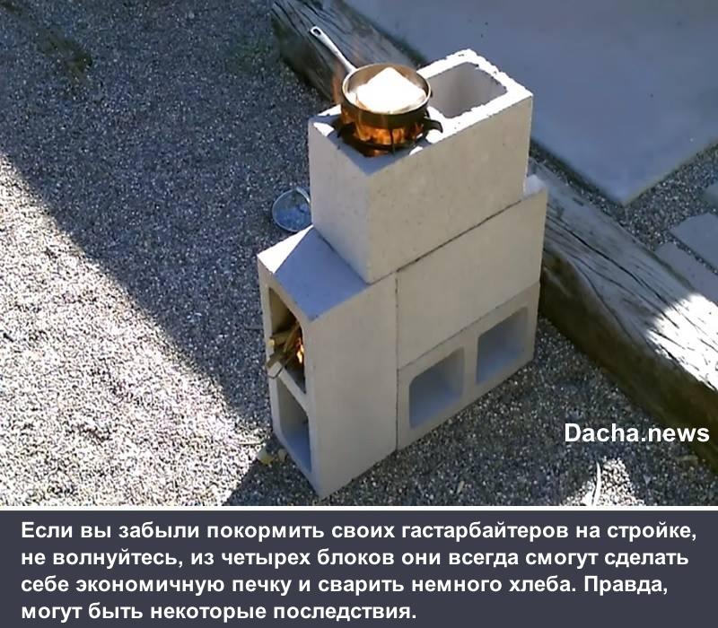 печка из блоков