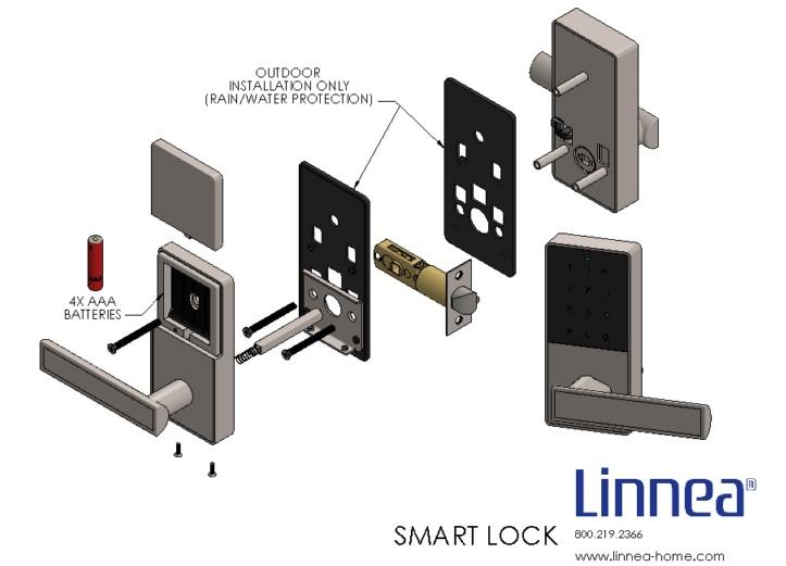 схема установки электронного умного замка