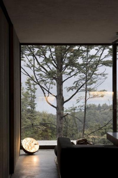 панорамное окно в гостинной