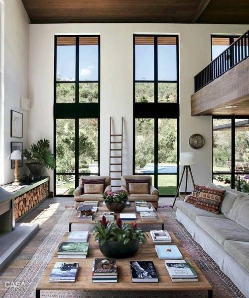 панорамные окна в гостинной