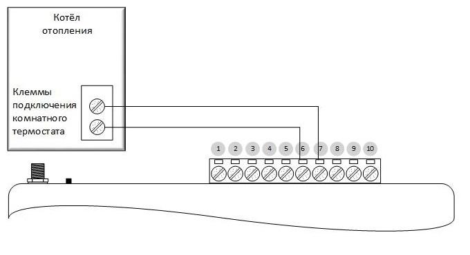 схема подключения GSM-термометр Телеметрика Т-1