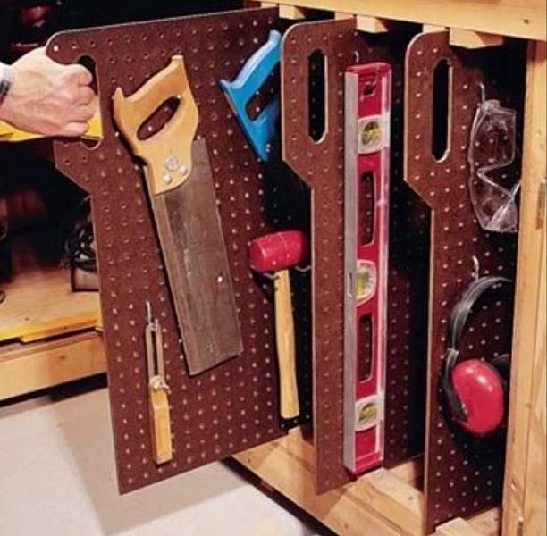 хранение инструмента перфорированная плита