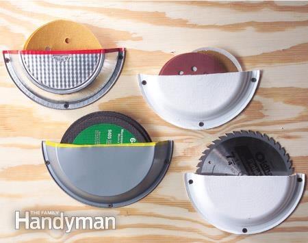 хранение инструмента диски для пилы