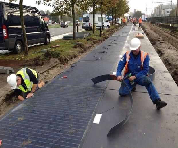 дорожка из солнечных батарей