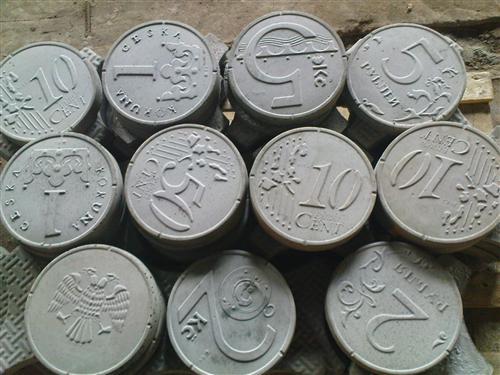 тротуарная плитка монеты