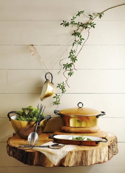 столик из бревна