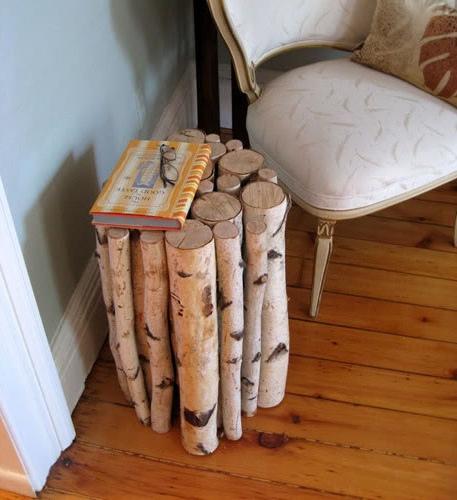 столик из березовых веток
