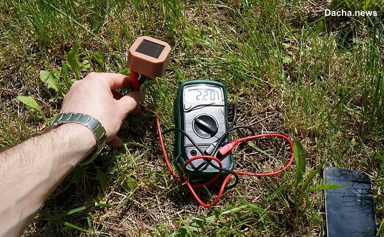 тест фонариков на солнечных батареях