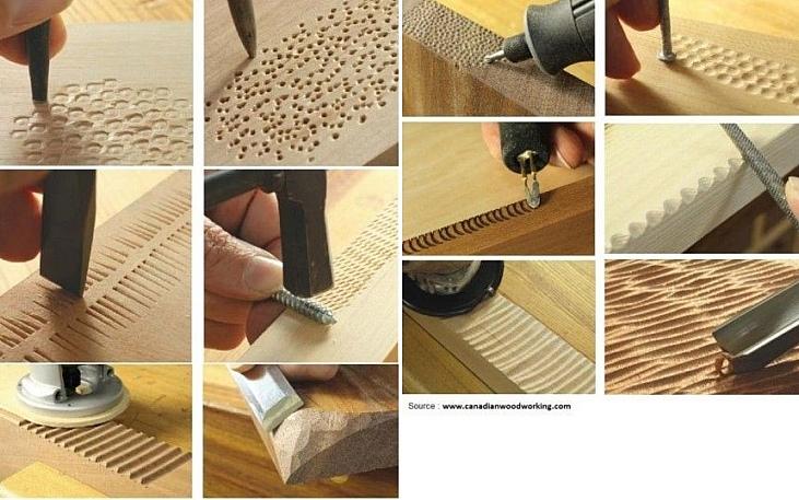 лайфхак совет текстурированная поверхность дерева