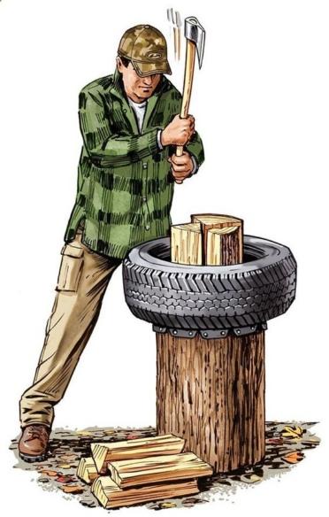 лайфхак совет колка дров
