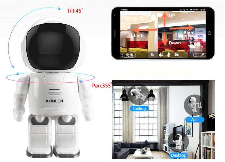 камера габлюдения робот