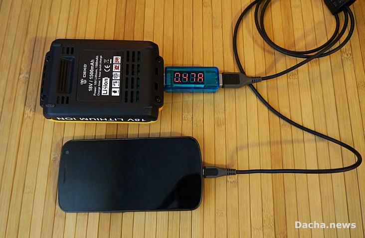 тест usb deko 18 зарядка смартфона